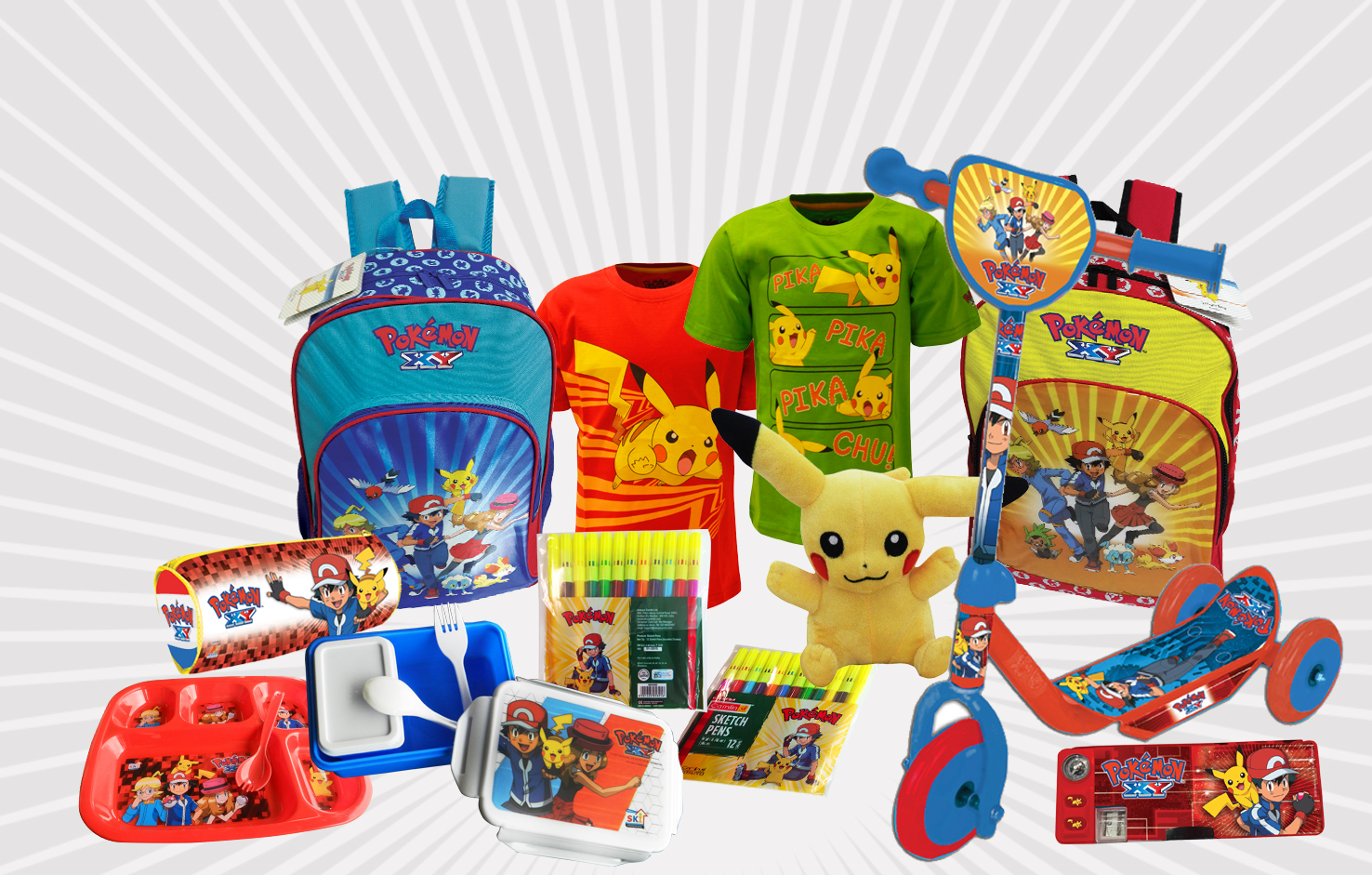 Anime lovers can purchase Pokemon merchandise through the internet